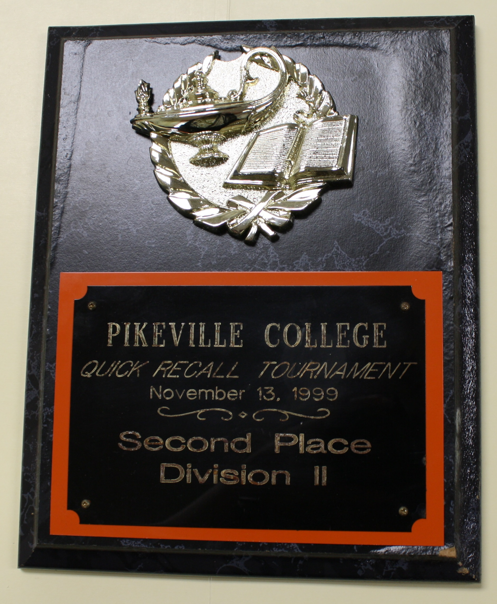 Academic Team Plaque 4