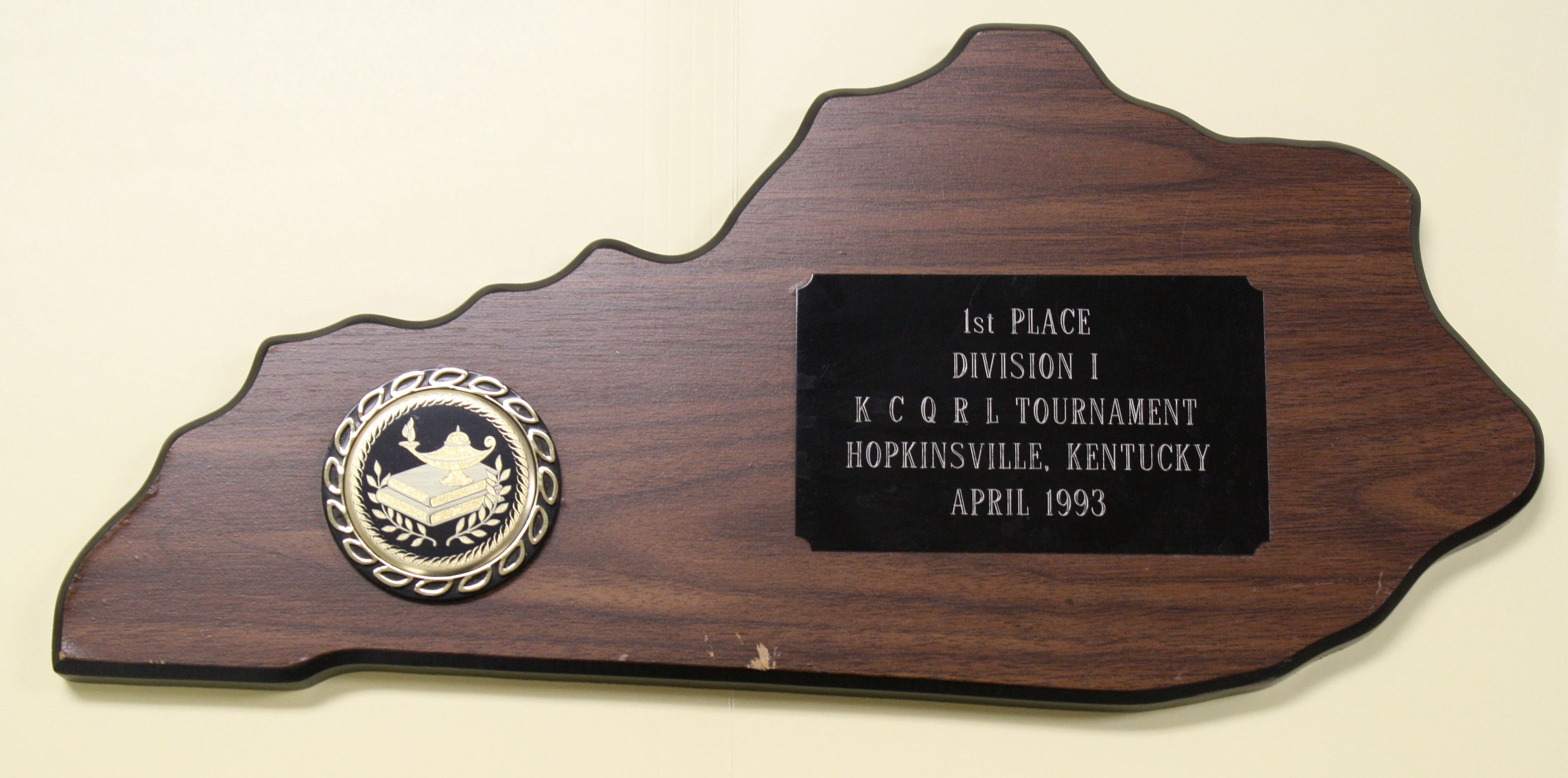 Academic Team Plaque 2