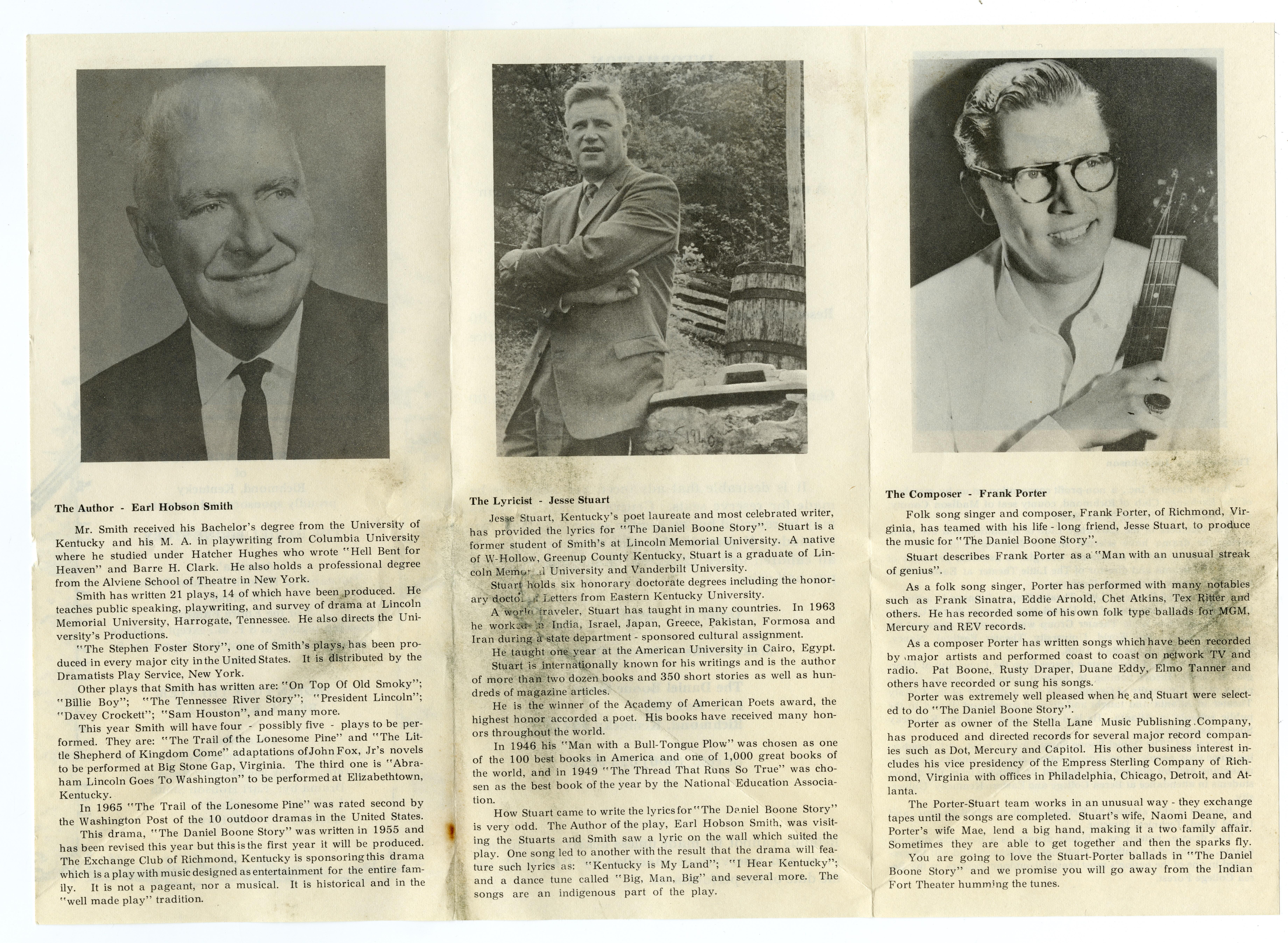 Daniel Boone Story program, Side 2